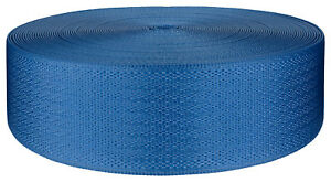 2 Inch Egyptian Blue Seat-Belt Polyester Webbing Closeout, 5 Yards