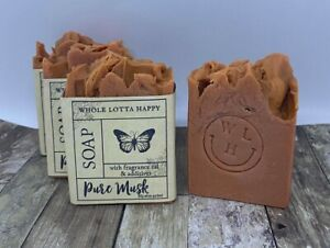 BULK 4 Pack Handmade ~ PURE MUSK ~ Fragrance Oil Soap AUSTRALIAN MADE