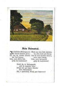 2245 Mein Heimattal Spruch Feldpost 3.Pion. Batl. Ingolstadt