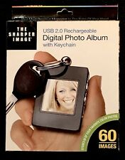 New Sharper Image USB 2.0 Rechargeable Digital Photo Album Keychain