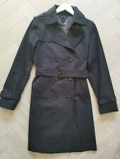 Women's Tommy Hilfiger Black Trench Coat - Excellent Condition - Size M