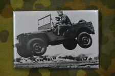 Aimant Magnet Frigo Panneau Magnétique WW2 seconde guerre mondiale Jeep voiture