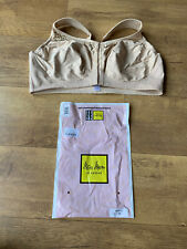 MISS MARY of SWEDEN 2158 BRA Nude Beige Front Fasten Non Wire Free 46D - NEW