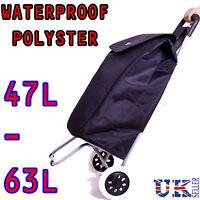 NEW Eagle BLACK Lightweigh 2 Wheel Shopping Trolley waterproof Expandable Cart