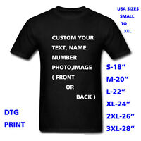 Personalized t-shirt,custom your text printed many colors t shirts