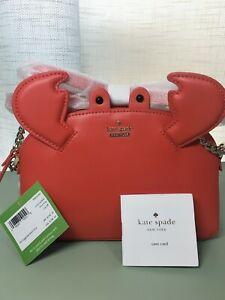 NWT Kate Spade Shore Thing Crab Hill Crossbody Purse Bag Picnic Red PXRU6289