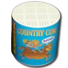 1 Deluxe COW VOICE CAN Funny Barn Yard Animal Moo Noise Sound Toy Box Gag Gift
