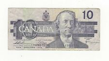 *1989*Bank of Canada BC-57a, $10 Thi/Cro Error Note Serial # Error, See Disc.