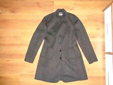 ST.EMILE ANTRACITHE GREY CASHMERE BLEND TWEED MID-THIGH LENGTH COAT JACKET-L,14
