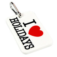 I Love Holidays PVC Luggage Tag- Baggage Tags Suitcase Holiday Label Travel Sun