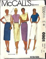 UNCUT Vintage McCalls SEWING Pattern Misses Straight Skirts Gathered 6981 12 OOP