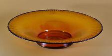 WMF MYRA GLAS KRISTALL um 1930 Glas gelb irisierend Glasschale Schüssel Ø 36 cm