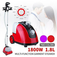 1800W Clothes Steamer Iron Steam Cleaner Remove Garnet Hanger Standing 220V