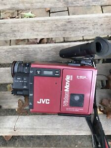 JVC GR-C7U Video Movie Camcorder Case Accessories Manuals Battery Cables Turn On