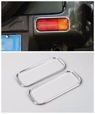 Car rear bumper fog lights cover frame for Suzuki Jimny 2007-2015 Silver 2pcs