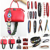Flowers Rivet Bag Strap Colorful PU Leather For Peekaboo Bag Handbag Accessories