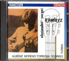 TURINA / ALBENIZ / RODRIGO - Guitar Music - Alexander Sergei RAMIREZ - Denon