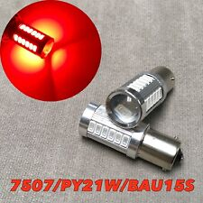 LED REAR TURN SIGNAL Light SMD Bulb RED BAU15S 7507 PY21W For V W