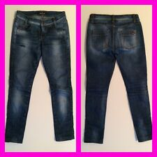 💖 KILLAH 💖 Jeans Tubo Blu Scuro Blu Denim Treggings TG. XXS 30 32 w23-24