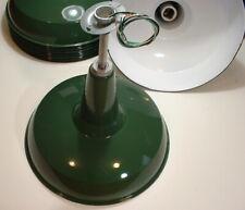 "1-20"" BENJAMIN 1945 Porcelain Pendant Industrial Green Vtg Warehouse Light A-'s"