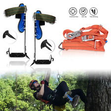Tree/Pole Climbing Spike, Safety Belt Straps, Adjustable Lanyard Stainless Steel