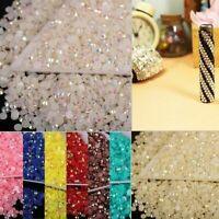 2000x Crystal Flat Back Iridescent Nail Art Rhinestone Gems AB Glitter Bead Du