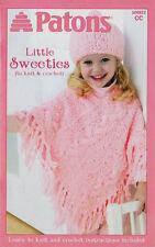 Ponchos, Hat, Sweatshirt, Blankies~8 Knit & Crochet Designs~Patons Pattern Book