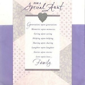 Happy Birthday Special Aunt Memories & Laughter Heart Hallmark Greeting Card