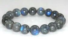 "12MM Beauty multicolor Labradorite Gemstone Grade Round Bracelet 7.5 "" AAA"