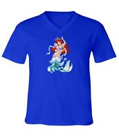 Disney Princess The Little Mermaid Ariel Dancing Men Women Unisex V-Neck T-Shirt