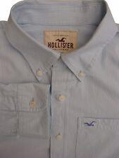 Hollister Camicia Da Uomo 17 XL Light Blue-White Stripes