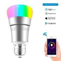 V8-S Smart WiFi Wake-Up Light Bulb Lamp RGBW Multi-Color For Alexa Google Home