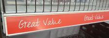 "10 x Shelf Edge/Ticket Rail Inserts ""Great Value"" 1240mm Long"