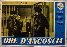 fotobusta ORE ANGOSCIA CRY IN THE NIGHT noir Warner og Italy 1956 lobby card