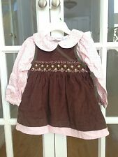 B T Kids Super Cute 3-piece Dress Corduroy/ Cotton 18 Months Toddler Girls, NWT