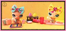 🌺Littlest Pet Shop SITTING CATS Yellow Postcard #1231 Pink #959 Accessories LOT