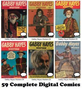 GABBY HAYES WESTERN (1948 Fawcett) #1-59 FULL RUN comic books on DVD
