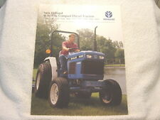 NEW HOLLAND 16 to 47 hp COMPACT DIESEL TRACTOR SALES BROCHURE