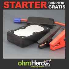 Avviatore di Emergenza Auto Batteria Starter Power Bank Booster Portatile Nero