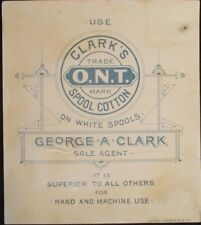 Vintage CLARK'S O.N.T. advertisment trade card VICTORIAN SCENES-QUANTITY/CHOICE