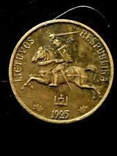 LITHUANIA-10 CENTU BRONZE/ALUM  COIN ,YEAR 1925 /SCARE!!!!!