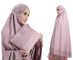 Muslim Women Long Scarf Islamic Prayer Hijab Pastelena Overhead Salah Khimar Set