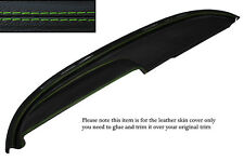 GREEN STITCH TOP DASH DASHBOARD LEATHER COVER FITS BUICK LESABRE COUPE 1960
