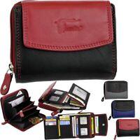 Echt Leder Damen Geldbörse RFID Geldbeutel Brieftasche Portemonnaie Geldtasche