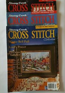 Stoney Creek Cross Stitch Magazine 2007 February August December Back Issues