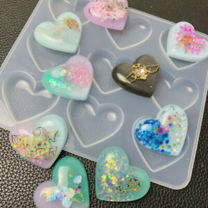 Heart Shaped Flower Soap Bar Mold Silicone Mould DIY Craft Mold