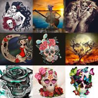 Full Drill 5D DIY Diamond Painting Art Skull Home Decors Kits Embroidery Gifts