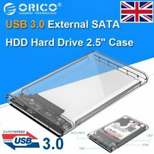"2.5"" Inch USB 3.0 SATA Hard Drive Enclosure Caddy Case For 2.5"" HDD/SSD UK Stock"