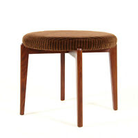 Retro Vintage Danish Modern Teak Foot Stool Piano Chair Ottoman 50s 60s 70s