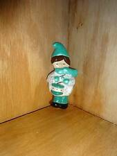 Vintage Ceramic Christmas Tree Ornament Drummer Boy Turquoise Brown Hair